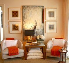 Sitting area by Orange County interior designer Domicile Interior Design via houzz