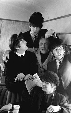11th February 1964. New York disc jockey Murray the K on The Beatles train from…