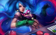 Arcade Sona Skin Splash League of Legends HD Wallpaper Ippus Girl 1920×1200