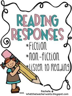 This packet of reading responses will help your students comprehend when reading fiction, non-fiction, or even when they listen to a book/cd digitally. Perfectly aligns to the Common Core State Standards (CCSS).