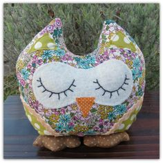 Hibiscus.  A snoozy owl doorstop.  Owl bookend. by TheSherbetPatch, £17.50