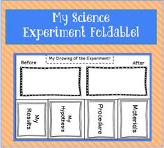 Experiment foldable! Perfect to help guide students through science experiments!