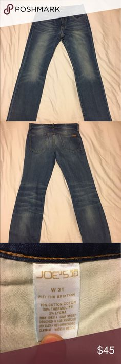 Joe's 31 Brixton Jeans Never worn, washed once. I overestimated my skinny jean attraction. Joe's Jeans Jeans Slim