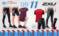 Runners, get excited! This his-and-her package from 2XU is valued at $300 and includes compression tights, socks and shorts and a short sleeve tech top. Enter by midnight December 12th!