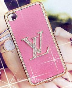 Bling pink LV phone case.