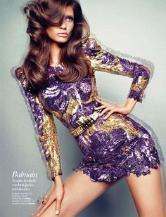 Balmain sequence dress. #inspiration