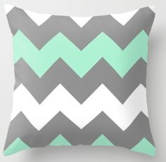 Another throw pillow again...the theme colors in chevron print!