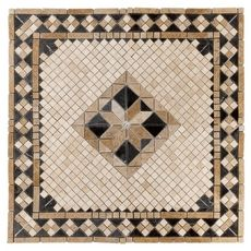 Product Details Update your home's design with this 36 x 36 textured square Aruba Tumbled Travertine Medallion. Ceramic Wall Tiles, Mosaic Tiles, Marble Mosaic, Bath Tiles, Stone Mosaic, Patio Flooring, Entryway Flooring, Laminate Flooring, Tile Entryway
