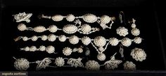Augusta Auctions, March 21, 2012 NYC, Lot 199: Seed Pearl Jewelry Elements, Early 19th C