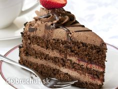 Chocolate Cake with Coffee Layer Cake Recipes, Cookie Recipes, Dessert Recipes, Easy Desserts, Delicious Desserts, Yummy Food, Cupcakes, Cupcake Cakes, Slovak Recipes