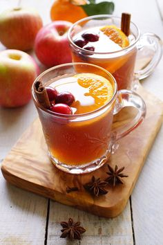 Mulled Cranberry Apple Cider Tea / Patty's Food