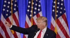 """President-elect Donald Trump on Wednesday would not let a reporter from CNN ask him a question during a press conference, saying that he worked for a """"fake news"""" company."""