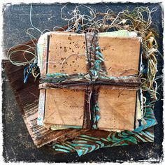 Time Capsule - sample from my newest workshop. Fabric Journals, Fabric Books, Art Journals, Concertina Book, Ties That Bind, Mixed Media Journal, Handmade Books, Totems, Art Journal Pages