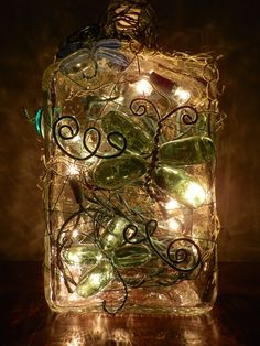 Dragonfly Garden Lighted Wine Bottle