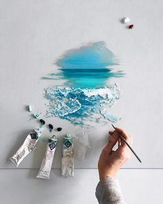 aesthetic wallpaper art sketches painting paint ideas sea illustration sea water