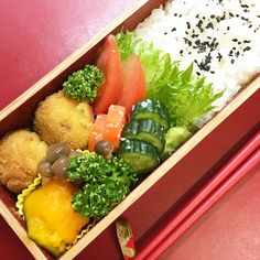 Deep-fried meat ball with avocado & cream cheese – Japanese lunch box