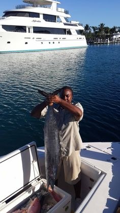 The Wahoo are always jumpin' in West End, Grand Bahama Island (Old Bahama Bay)
