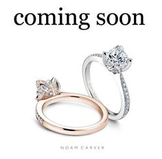 Coming soon to Dana's, the Noam Carver collection. With several styles to choose from, trendy, classic to vintage and sleek designs, you can find your dream ring at Dana's Goldsmithing, your diamond destination for 24 years.