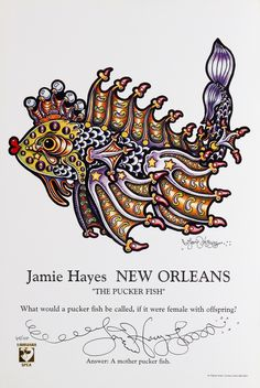 """""""The Pucker Fish"""" from the Jamie Hayes Gallery"""
