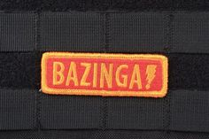"""Buy AMS """"Bazinga"""" Patch - Full Color - Premium Hi-Fidelity Patch Series 