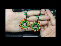 Beaded Earrings Patterns, Beading Patterns, Beaded Jewelry, Crochet Earrings, Jewelry Making Tutorials, Beading Tutorials, Beads, Diamond, Maria Clara