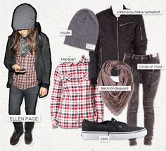 Love Ellen Page's rock chic style? Steal her style! Find everything at www.miinto.se