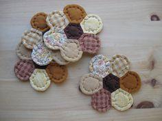 Farmhouse Quilted Coasters Fabric Coasters Mug Mats
