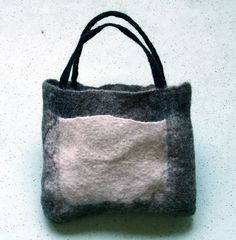 bag with little pouch felting