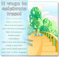 11 ways to celebrate trees! Green projects and natural crafts for Arbor Day, Earth Day and the like.