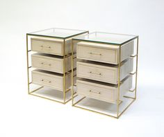 Floating Drawer Bedside Table 3 - Transitional Mid-Century / Modern Night Stands - Dering Hall