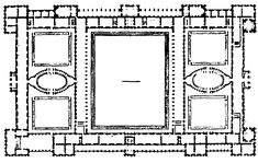 Renaissance project for the Tuilleries Palace, Paris Renaissance, Palais Des Tuileries, Louvre Palace, Architecture Mapping, H Hotel, Royal Crowns, Paris, Baroque, Floor Plans