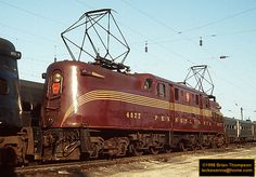 Big Red: A nickname given to because it was repainted into PRR Tuscan Red in Electric Locomotive, Steam Locomotive, Union Pacific Train, Ground Transportation, Train Posters, Railroad Pictures, Rail Transport, Bonde, Pennsylvania Railroad