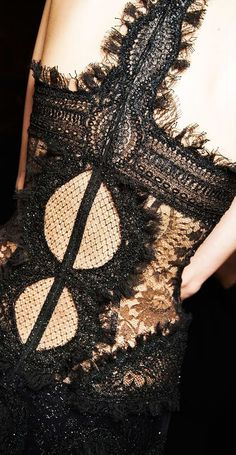 Beautiful Fashion Details...Alexander McQueen.