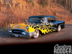 Homebuilt & Hot - Black, Classic, GM, Yellow Flames