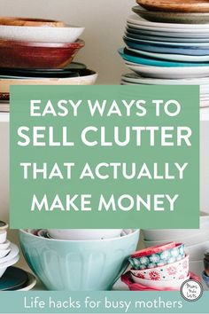 8 point plan for making extra money from decluttering. We share our top tips for making money from decluttering, the key is to be smart and sell different things in different ways, read how. Declutter and Organize Minimalism Living, Sell Your Stuff, Things To Sell, Buy Stuff, Declutter Your Life, Declutter And Organise, How To Organize, Clutter Control, D House