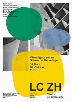 """visualkultur: """"buero146, LC ZH Le Corbusier poster 2015 """""""
