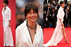 THE AMAZING: This may be a Marmite, but I absolutely love Sophie Marceau's Alexandre Vauthier silk shirt dress. It's effectively a super fancy robe, but it's my favourite look of day two. And, um, how hawt is that Chopard snake necklace? This is the kind of effortless style that only French actresses in their late 40s (like Sophie) seem to be able to pull off.