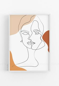 Faces Single Line Woman One Line Drawing Printable Line Art Abstract Print Minimalist Line Art Poster Continuous line Female face#wallartdecor #wallartlivingroom #wallartprintables