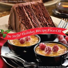 It's time for the second round of Holiday Recipe Face-Off!  Vote for your favourite Mascarpone recipe for a chance to win $25 in Tre Stelle grocery vouchers! Face Off, Mascarpone Recipes, Sweet Bread, Holiday Recipes, Breads, Cakes, Pot De Creme, Bread, Braided Pigtails