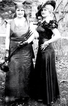The Garton Sisters as The Devil and Mae West Halloween 1928.  sc 1 st  Pinterest & Mae West in fancy dress as a bat | Fantasy Vintage Costume ...