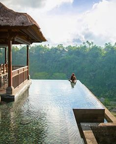 Kristina at Mandapa, a Ritz-Carlton Reserve in Ubud, Bali, Indonesia #InfinityPool