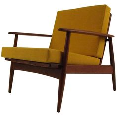 Single Danish Modern Teak Lounge Chair | See more antique and modern Armchairs at https://www.1stdibs.com/furniture/seating/armchairs