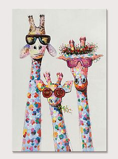 Mintura Hand Painted Giraffe Animals Oil Paintings on Canvas Modern Abstract Wall Picture Pop Art Posters For Home Decoration Ready To Hang Giraffe Painting, Giraffe Art, Oil Painting Abstract, Colorful Animal Paintings, African Art Paintings, Happy Paintings, Oil Paintings, Tableau Pop Art, Farmhouse Paintings