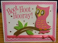 Cricut Kate's ABCs: owl, tree branch