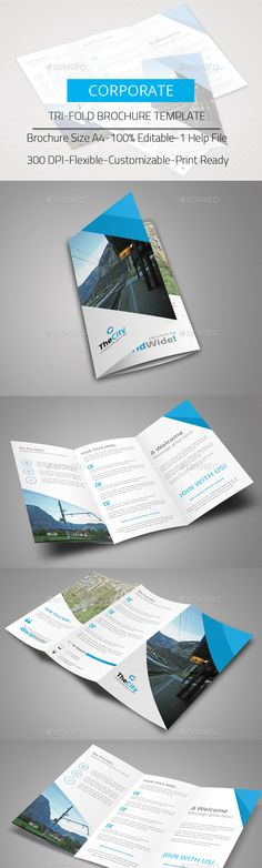 Tri-Fold Brochure Template PSD #design Download: http://graphicriver.net/item/trifold-brochure/14018604?ref=ksioks