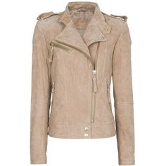 Mango Suede biker jacket (43.810 CLP) ❤ liked on Polyvore featuring outerwear, jackets, beige, casacos, coats & jackets, collar jacket, motorcycle jacket, beige jacket, suede biker jacket and suede moto jacket