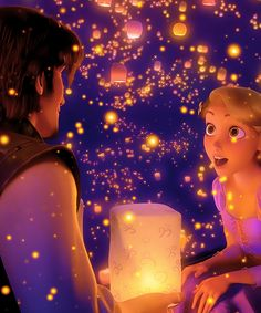 "*FLYNN RIDER & RAPUNZEL ~ Tangled, 2010....""Now that I see you."""