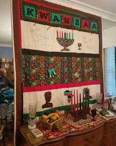 African American Culture, Kwanzaa, Valance Curtains, Shower, Quilts, Fabric, Home Decor, Rain Shower Heads, Tejido