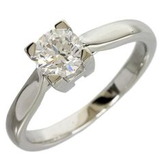 Harry Winston Platinum 950 Diamond Solitaire Ring US Size With Box/Cert Harry Winston, Diamond Solitaire Rings, Fine Jewelry, Jewels, Engagement Rings, Vintage, Box, Women, Fashion