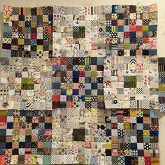 This excellent custom quilts is an obviously inspiring and terrific idea Scrappy Quilt Patterns, Jellyroll Quilts, Scrappy Quilts, Easy Quilts, Small Quilts, Quilt Blocks, Block Patterns, Antique Quilts, Vintage Quilts
